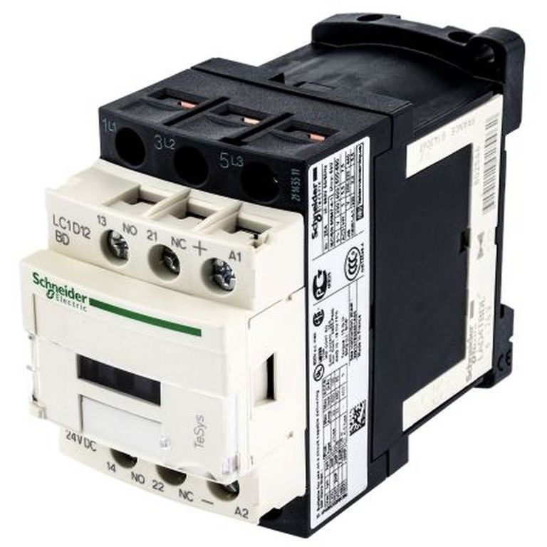 Контактор D 3P LC1D12BD 12А 1NO+1NC 24VDC Schneider Electric